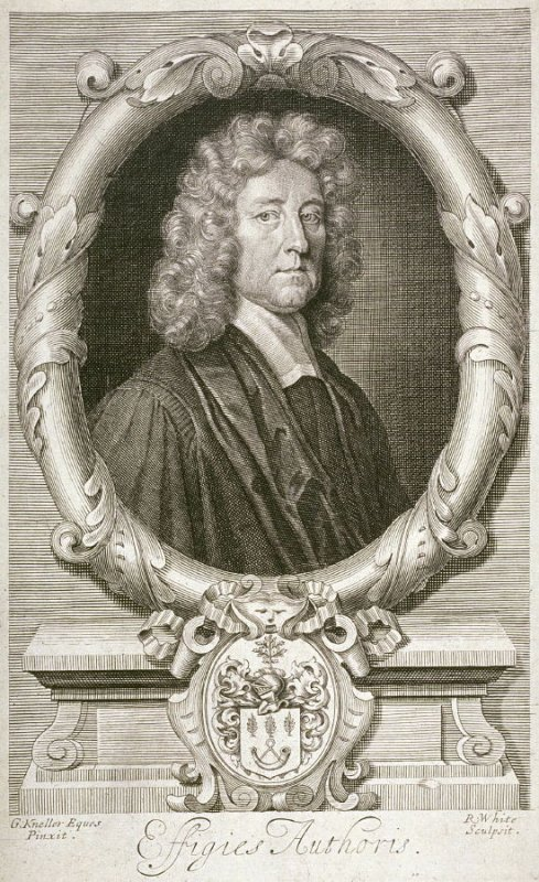 Portrait of Thomas Burnet, Frontispiece to his Theory of Earth