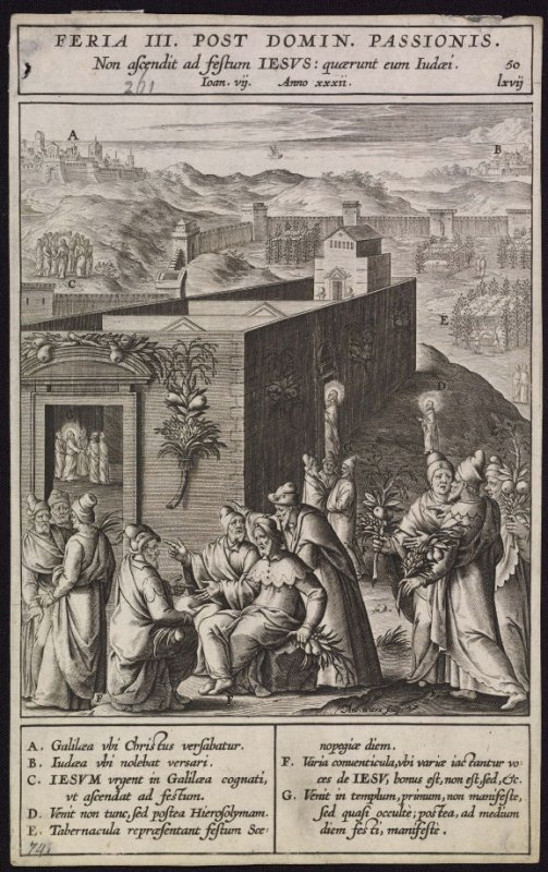 The Feast of the Tabernacle, plate 50 from P. Jeronimo Nadal, Evangelicae Historiea Imagines (Antwerp, 1593)