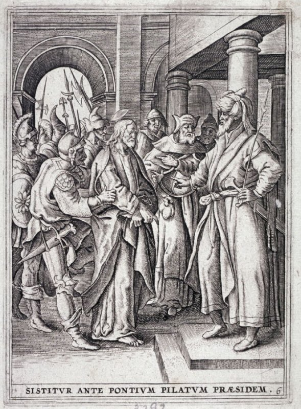 Christ Brought Before Pilate, from a series of The Passion