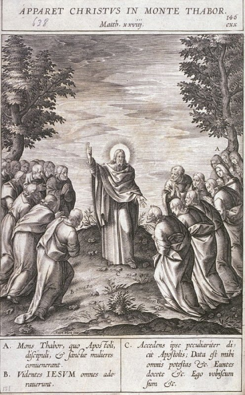 Christ Appearing at Mount Tabor, plate 146 from P. Jeronimo Nadal, Evangelicae Historiea Imagines (Antwerp, 1593)