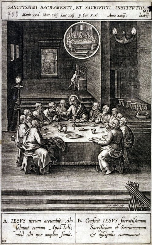 One of 17 Engravings out of the Evangelica Historias Inagiica [Sanctissimi Sacramenti...]
