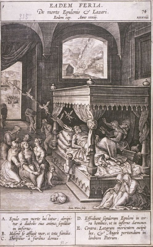 One of 17 Engravings out of the Evangelica Historias Inagiica [Eadem Feria...]