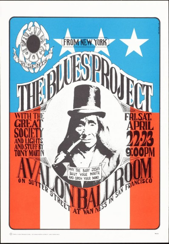 """Blues Project,"" Blues Project, Great Society, April 22 & 23, Avalon Ballroom"