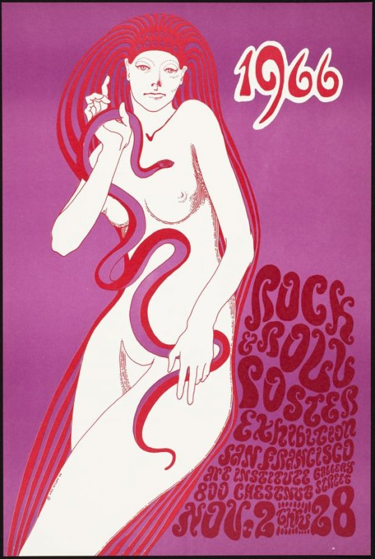 Rock and Roll Poster Exhibition, November 2 - 28, San Francisco Art Institute Gallery