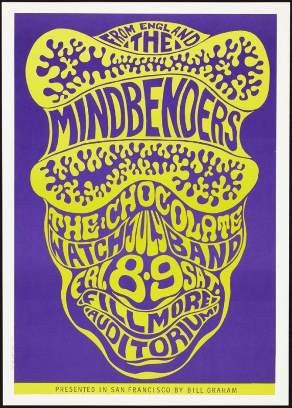 Mindbenders, Chocolate Watchband, July 8 & 9, Fillmore Auditorium