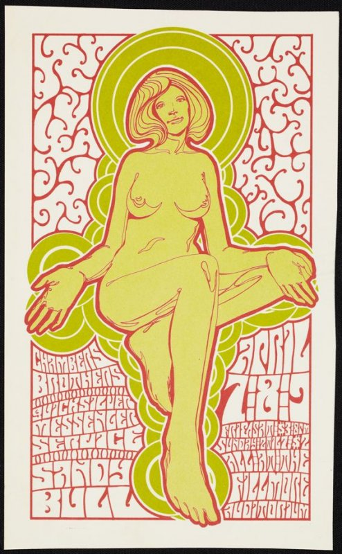 Chambers Brothers, Quicksilver Messenger Service, Sandy Bull, April 7 - 9, Fillmore Auditorium