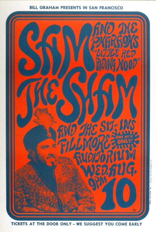 Sam the Sham and the Pharaohs, Sit-Ins, August 10, Fillmore Auditorium