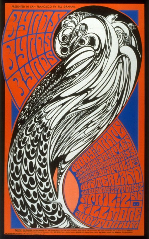 Byrds, Moby Grape, Andrew Staples, March 31 & April 1, Winterland, April 2, Fillmore Auditorium