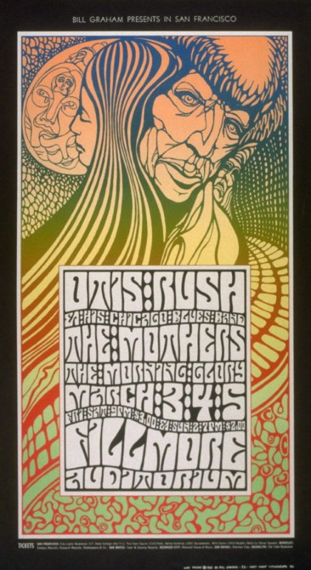 Otis Rush & His Chicago Blues Band, The Mothers, Morning Glory, March 3 - 5, Fillmore Auditorium