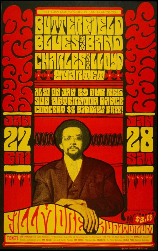 Butterfield Blues Band, Charles Lloyd Quartet, January 27 - 29, Fillmore Auditorium