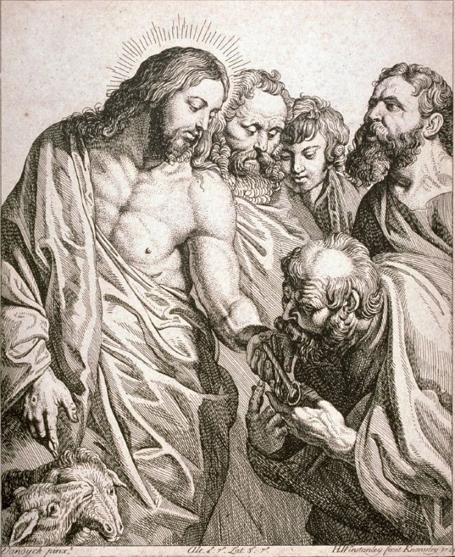 Christ giving St. Peter the Keys to Paradise