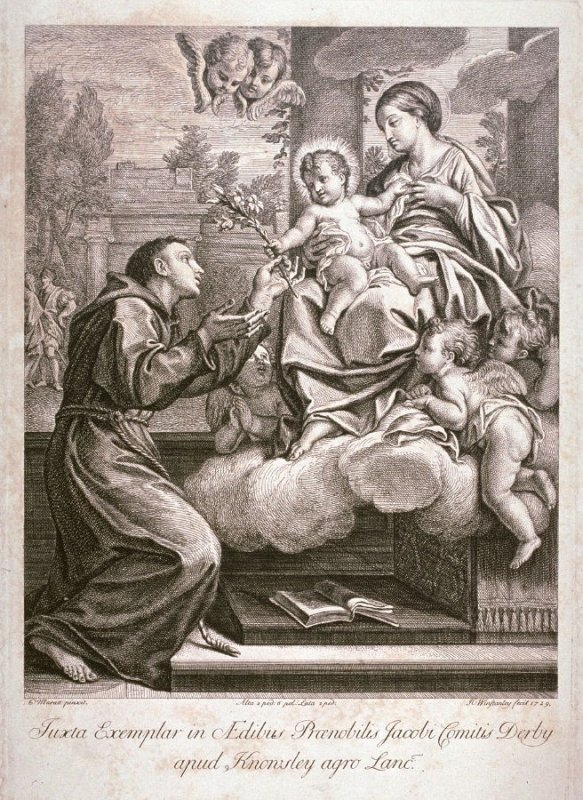 The Virgin appearing to St. Anthony of Padua