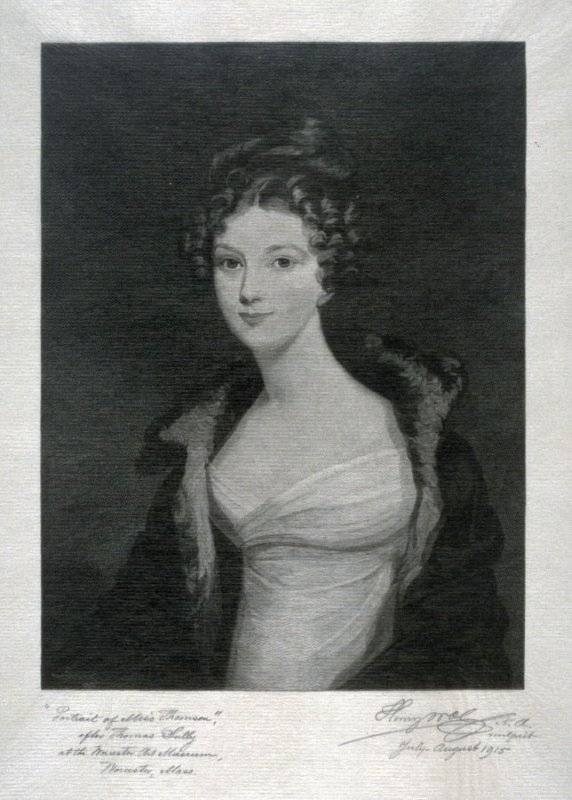 Portrait of Miss Thomson