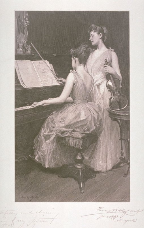 The Sonata, after the painting by Irving Ramsay Wiles, now in the Fine Arts Museums of San Francisco (1985.7)