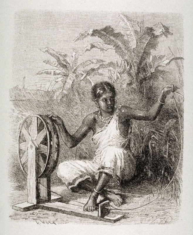 Indian Girl spinning