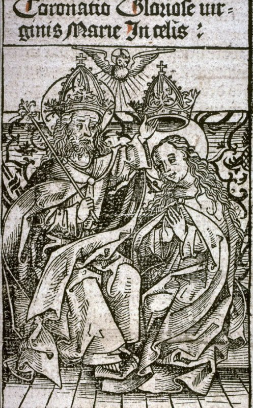 Coronation and Glory of Mary, from the Nuremberg Chronicle