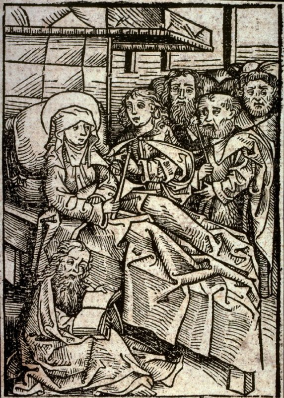 Death of the Virgin, from the Nuremberg Chronicle