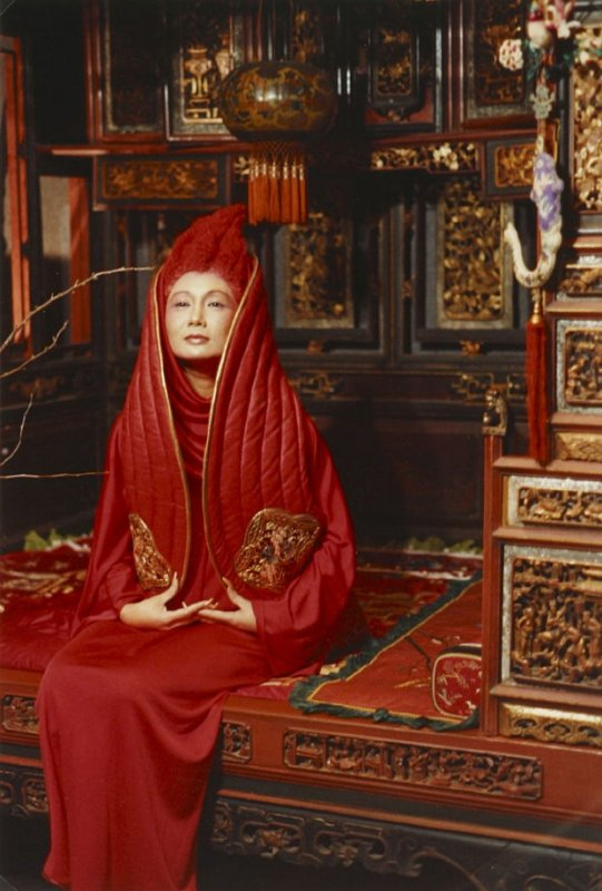 Photograph: Merle Bulatao in Red, with Red Hair