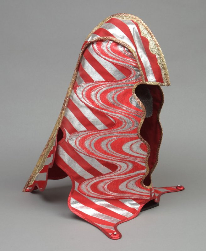 """From The Seven Rays series: Hood for the """"Red Ray"""" dress"""