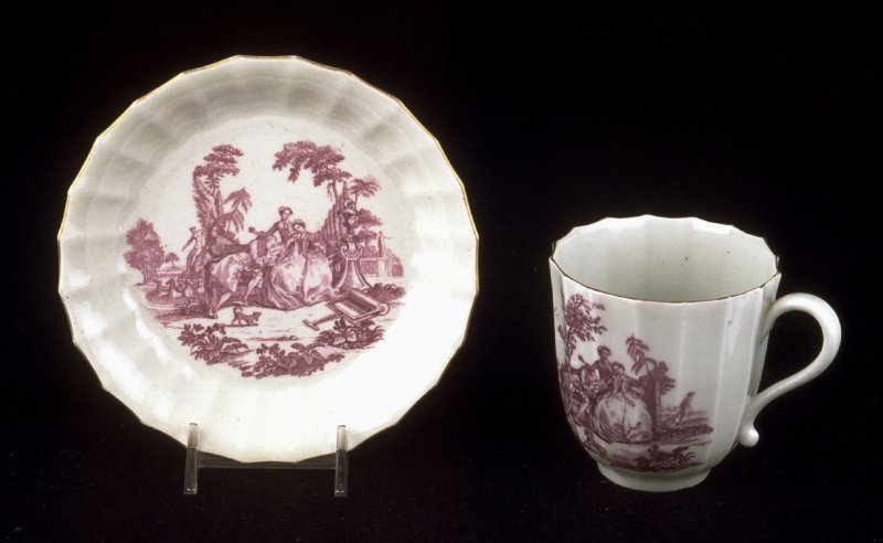 """Cup and saucer (pari with """"The Teaparty"""""""