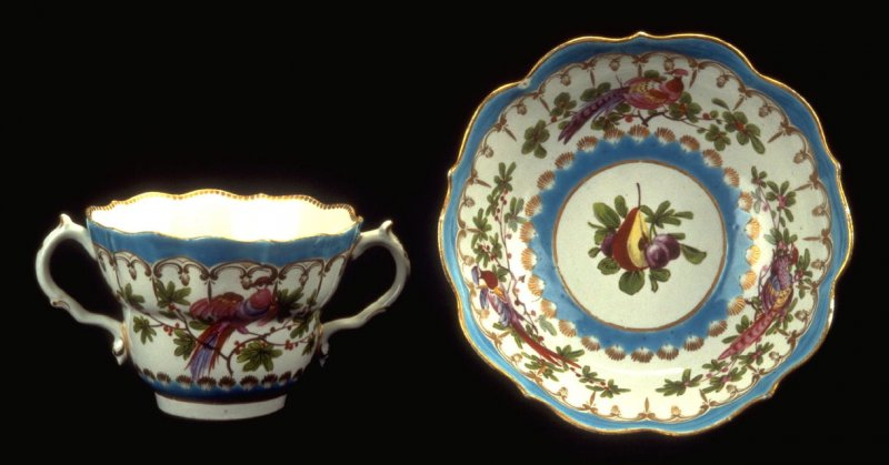 Two-Handled Cup and Saucer