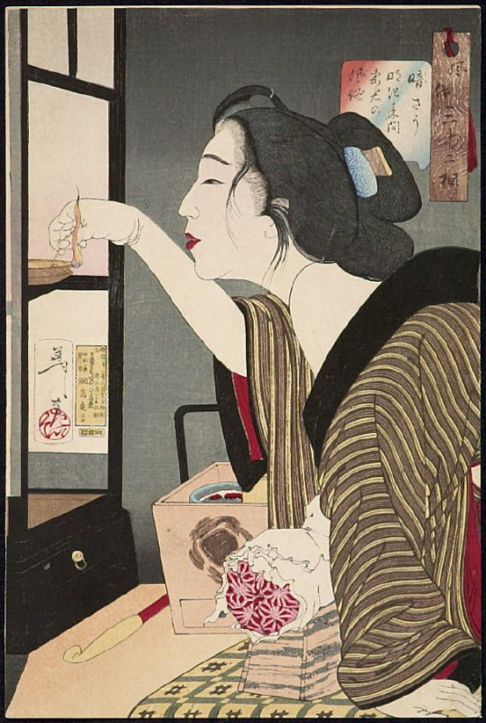 (unable to translate first part of title) from the series Fuzoku sanjuniso (from the series Thirty-two Aspects of Women)