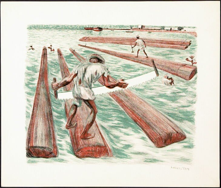 """Lumber Workers from """"Mexican People"""" portfolio"""