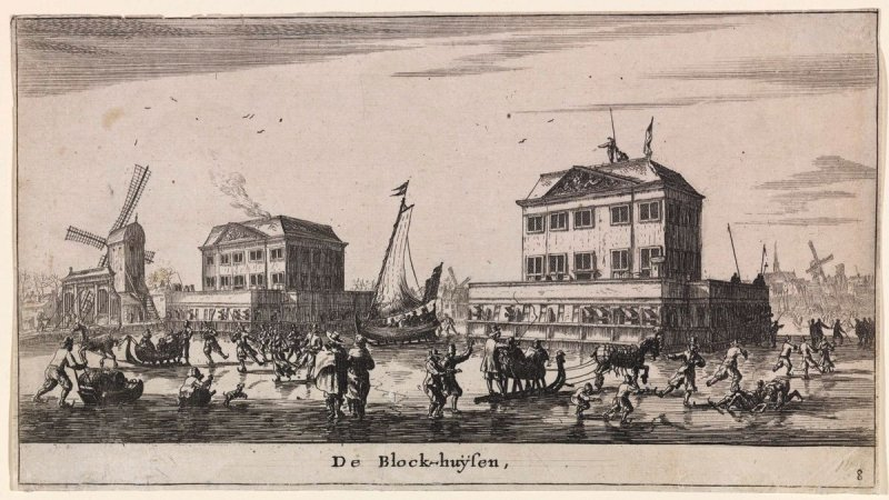 Winter Scene at the Blockhouses in Amsterdam