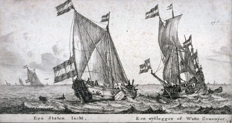 A States Yacht and an 'Uijtlegger' or Escort Vesssel for the Waddenzee