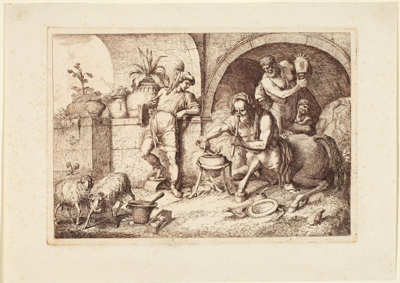 Chiron Exercising the Art of Magic from a series, the Education of Achilles